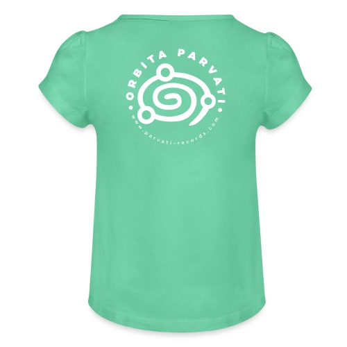 Orbita Parvati white logo - Girl's T-Shirt with Ruffles