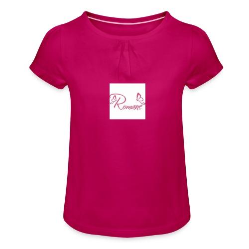 Romane - T-shirt à fronces au col Fille