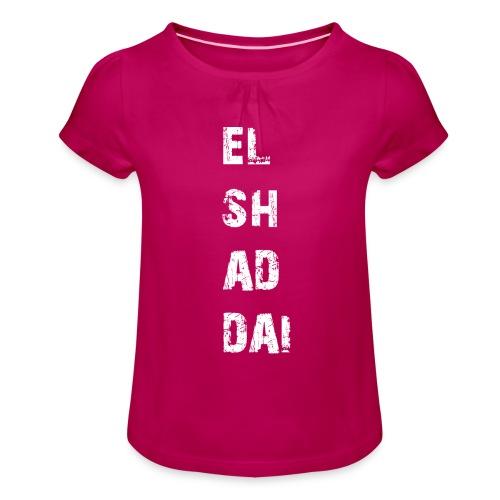 EL SH AD DAI 2 - Mädchen-T-Shirt mit Raffungen
