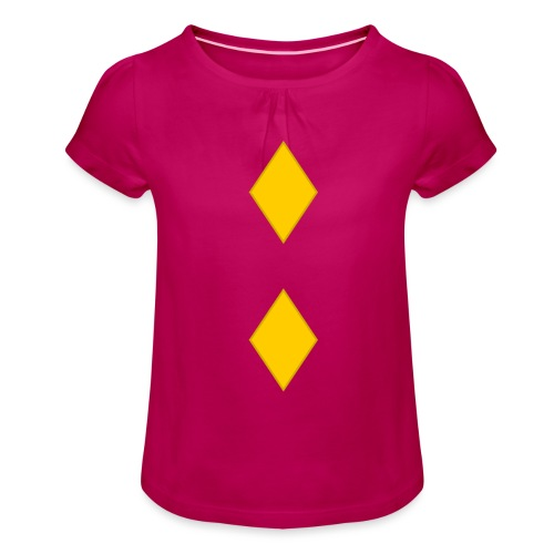 Upseerikokelas - Tyttöjen t-paita, jossa rypytyksiä