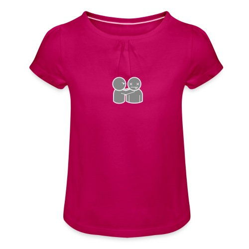 ghost 040 act 0070 png - Girl's T-Shirt with Ruffles