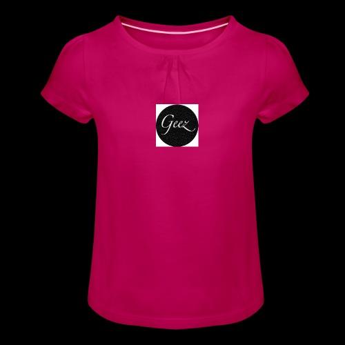 black/white texture - Girl's T-Shirt with Ruffles