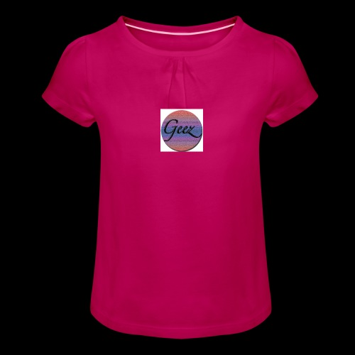 multi coloured logo - Girl's T-Shirt with Ruffles