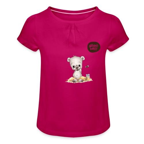 Noah der kleine Bär - Mädchen-T-Shirt mit Raffungen