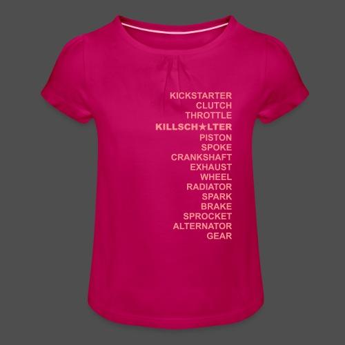 dwa RD - Koszulka dziewczęca z marszczeniami