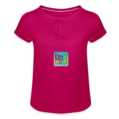 UnBuild App Icon - Mädchen-T-Shirt mit Raffungen