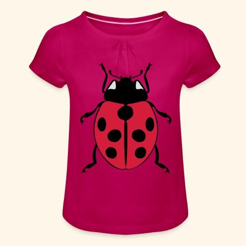 marienkaefer - Mädchen-T-Shirt mit Raffungen