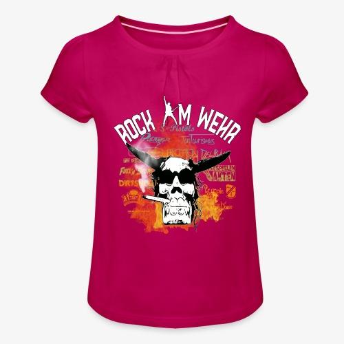 Logo Vorn 2020 - Mädchen-T-Shirt mit Raffungen