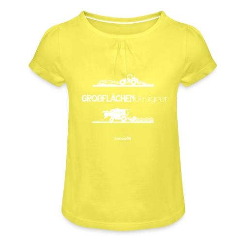 Großflächendesigner - Mädchen-T-Shirt mit Raffungen