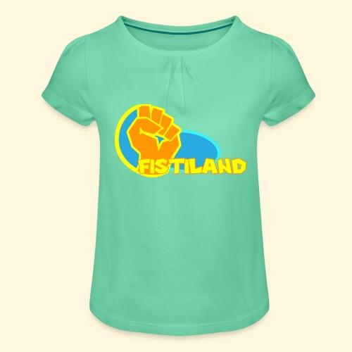 FISTILAND en couleur - T-shirt à fronces au col Fille