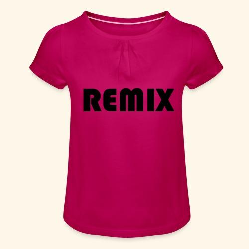 Remix - Camiseta para niña con drapeado