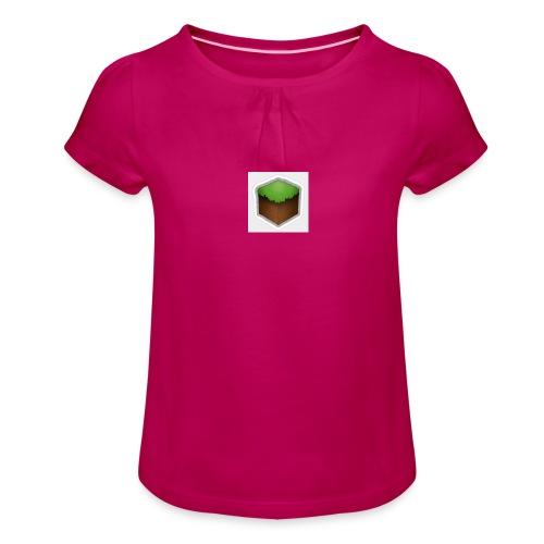 een mooi block - Meisjes-T-shirt met plooien