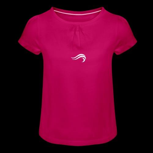 WHITE WAVY. LOGO - T-shirt à fronces au col Fille