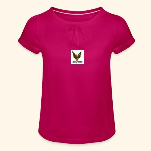 feeniks logo - Tyttöjen t-paita, jossa rypytyksiä