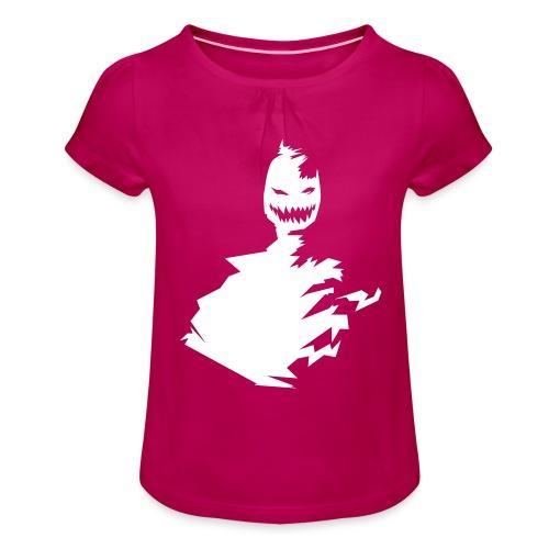 t-shirt monster (white/weiß) - Mädchen-T-Shirt mit Raffungen
