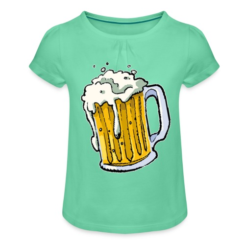 Boccale Birra - Maglietta da ragazza con arricciatura
