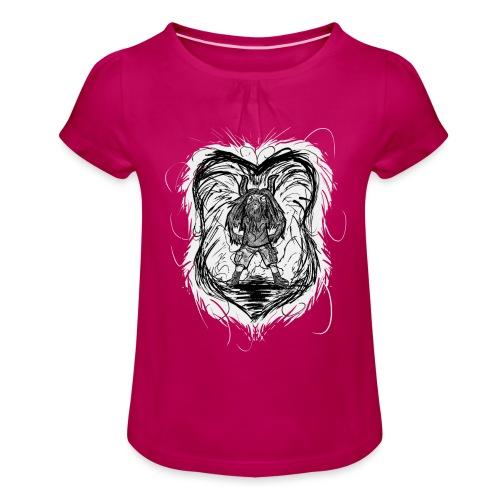 Horned Metalhead - Girl's T-Shirt with Ruffles