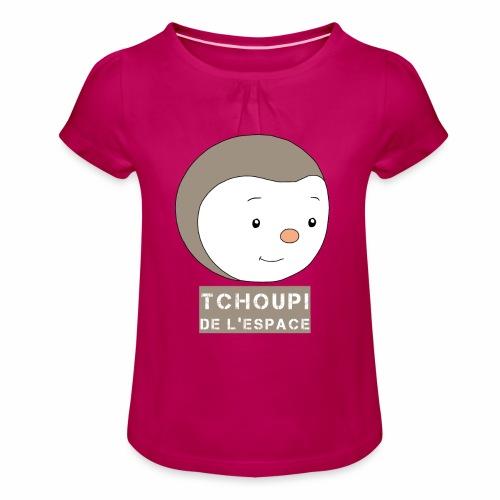 Tchoupi de l'Espace ! - T-shirt à fronces au col Fille