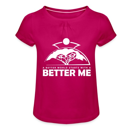 Better Me - White - Girl's T-Shirt with Ruffles