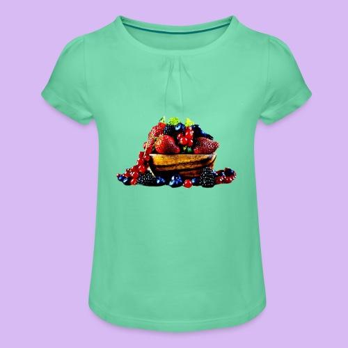frutti di bosco - Maglietta da ragazza con arricciatura