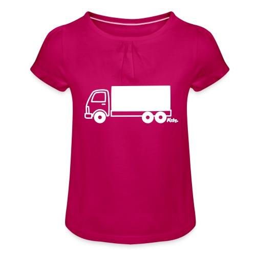 LKW lang - Mädchen-T-Shirt mit Raffungen