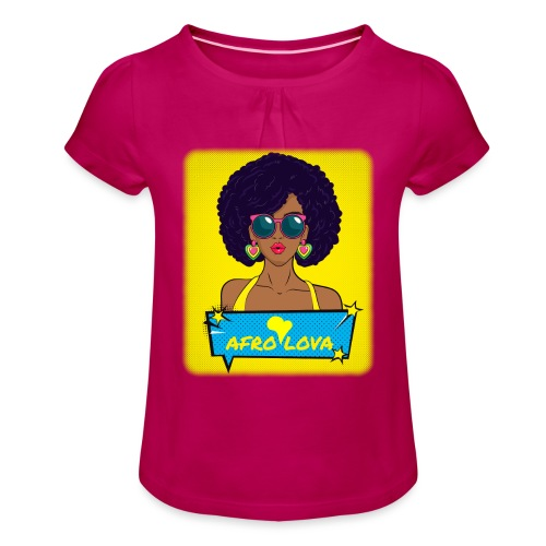 Pop Lady Afro - T-shirt à fronces au col Fille