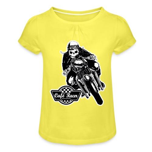 Café Racer - Camiseta para niña con drapeado