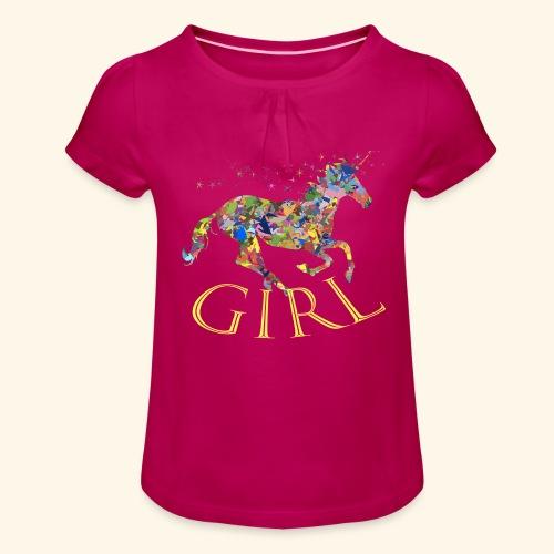 unicorn girl T-shirt - Maglietta da ragazza con arricciatura