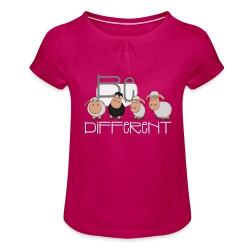 Coole Be different Schafe Gang - Gute Laune Schaf - Mädchen-T-Shirt mit Raffungen