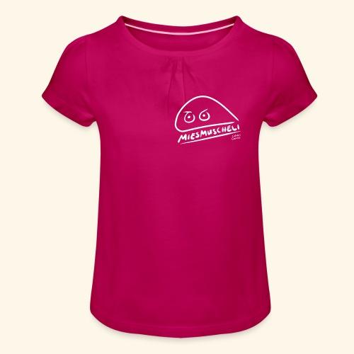 Miesmuscheli Kontrast - Mädchen-T-Shirt mit Raffungen