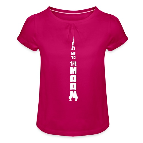 Fly me to the moon - Meisjes-T-shirt met plooien