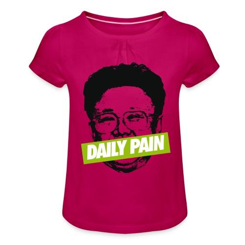 daily pain cho - Koszulka dziewczęca z marszczeniami