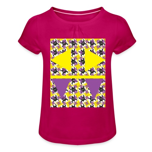 prudence1 - Girl's T-Shirt with Ruffles