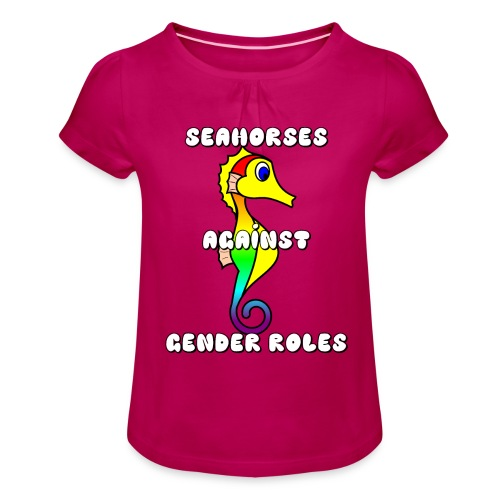 Seahorses against gender roles - Girl's T-Shirt with Ruffles