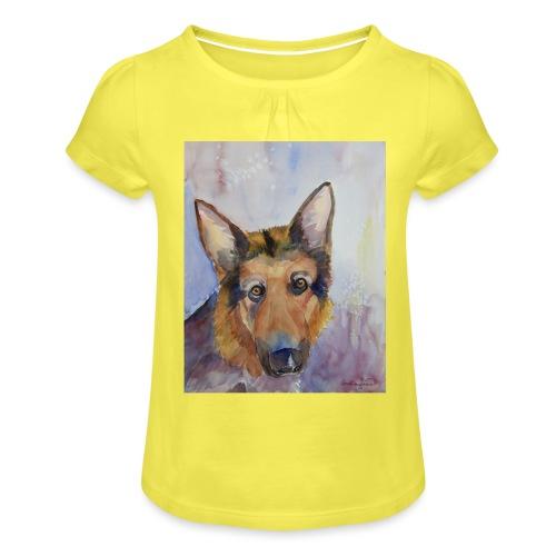 german shepherd wc - Pige T-shirt med flæser