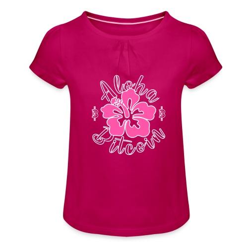 Aloha Bitcoin! - Camiseta para niña con drapeado