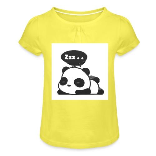 shinypandas - Girl's T-Shirt with Ruffles