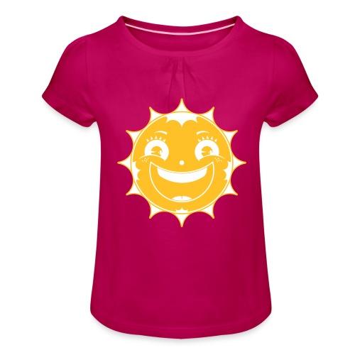 Happy Sun - Mädchen-T-Shirt mit Raffungen