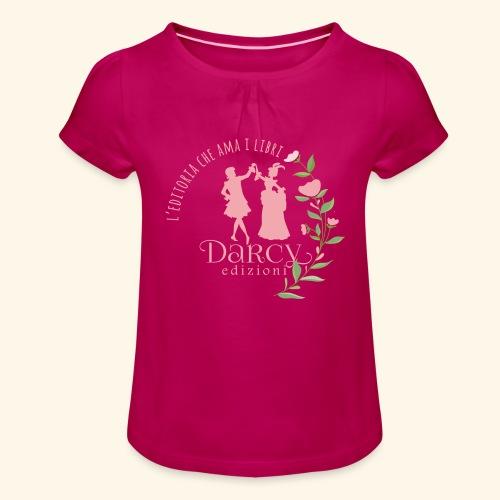 Darcy Edizioni - Maglietta da ragazza con arricciatura