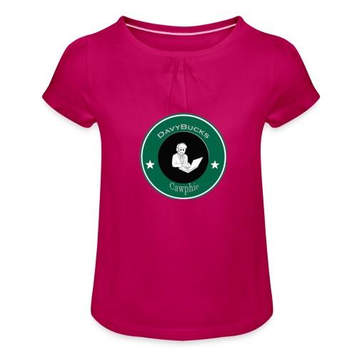 DavyBucks - Meisjes-T-shirt met plooien