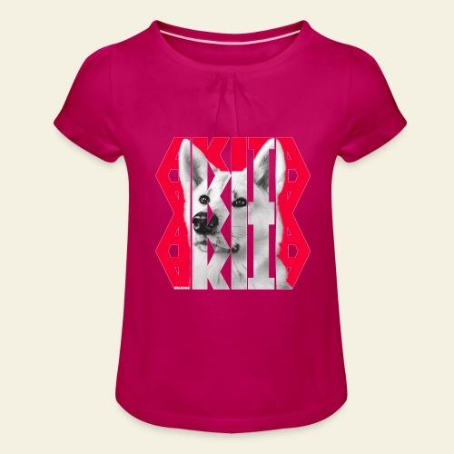 Akita NASSU IV - Tyttöjen t-paita, jossa rypytyksiä