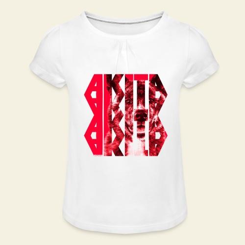 Akita NASSU I - Tyttöjen t-paita, jossa rypytyksiä