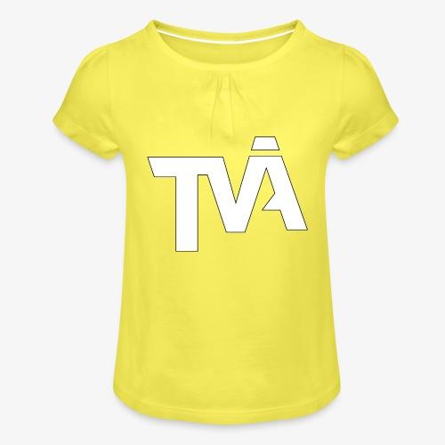 TVÅHUNDRA VIT - T-shirt med rynkning flicka
