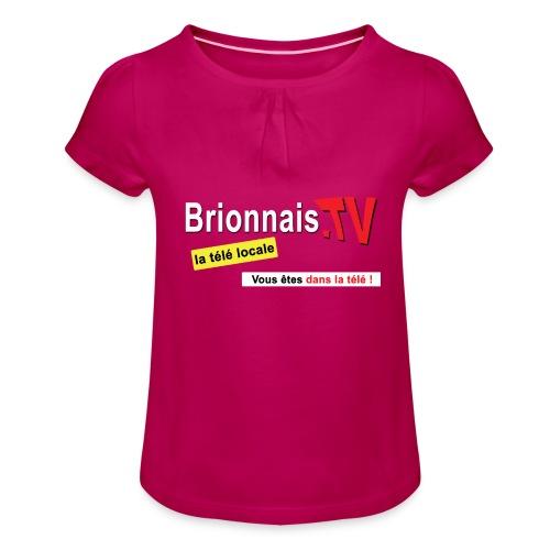 BTV logo shirt dos - T-shirt à fronces au col Fille