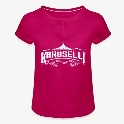 Karuselli - Tyttöjen t-paita, jossa rypytyksiä