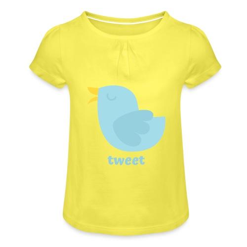 tweet - Pige T-shirt med flæser