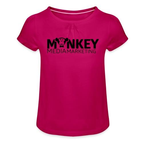 MonkeyMedia Marketing - Mädchen-T-Shirt mit Raffungen