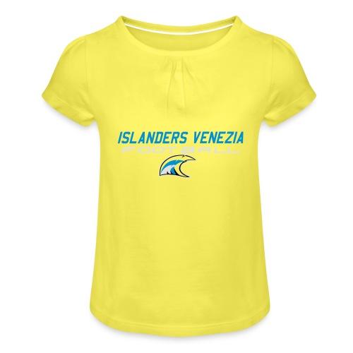 islanders football new logo - Maglietta da ragazza con arricciatura