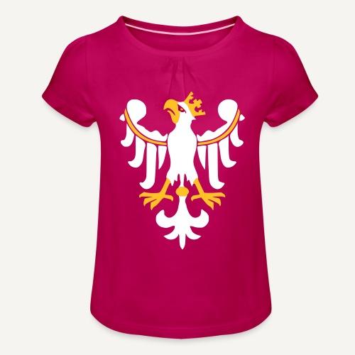 Orzeł Piastowski - Koszulka dziewczęca z marszczeniami