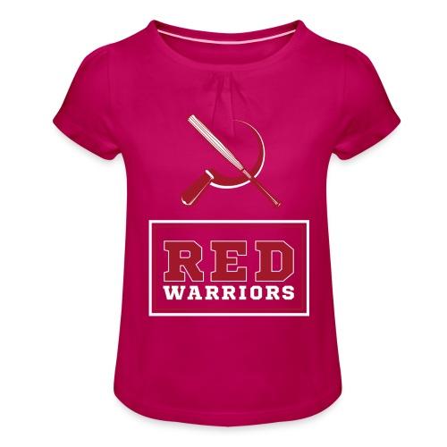 Red Warriors Logo2 - T-shirt à fronces au col Fille